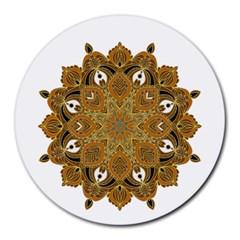 Ornate mandala Round Mousepads