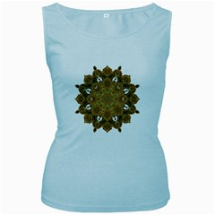 Ornate mandala Women s Baby Blue Tank Top