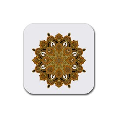 Ornate mandala Rubber Coaster (Square)