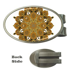 Ornate mandala Money Clips (Oval)