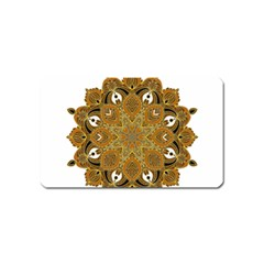 Ornate mandala Magnet (Name Card)