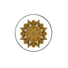 Ornate mandala Hat Clip Ball Marker (4 pack)