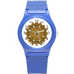 Ornate mandala Round Plastic Sport Watch (S)