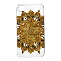 Ornate mandala Apple iPhone 4/4S Hardshell Case with Stand