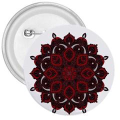 Ornate mandala 3  Buttons