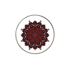 Ornate mandala Hat Clip Ball Marker (4 pack)