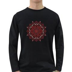 Ornate mandala Long Sleeve Dark T-Shirts
