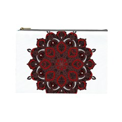 Ornate mandala Cosmetic Bag (Large)