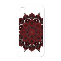 Ornate mandala Apple iPhone 4 Case (White)