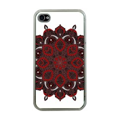 Ornate mandala Apple iPhone 4 Case (Clear)