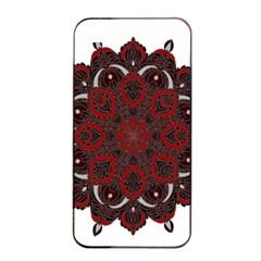 Ornate mandala Apple iPhone 4/4s Seamless Case (Black)