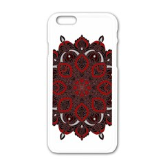 Ornate mandala Apple iPhone 6/6S White Enamel Case