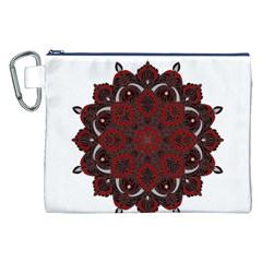 Ornate mandala Canvas Cosmetic Bag (XXL)
