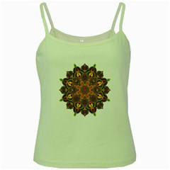 Ornate mandala Green Spaghetti Tank