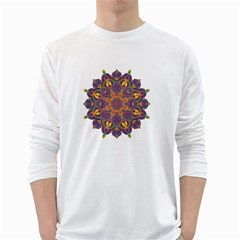 Ornate mandala White Long Sleeve T-Shirts