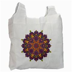 Ornate mandala Recycle Bag (One Side)