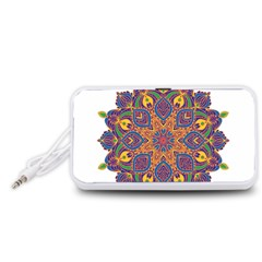 Ornate mandala Portable Speaker (White)