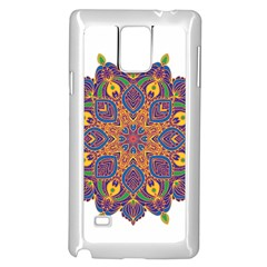 Ornate mandala Samsung Galaxy Note 4 Case (White)