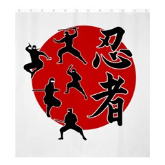 Ninja Shower Curtain 66  x 72  (Large)