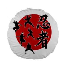 Ninja Standard 15  Premium Flano Round Cushions
