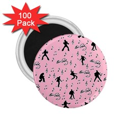 Elvis Presley  pink pattern 2.25  Magnets (100 pack)