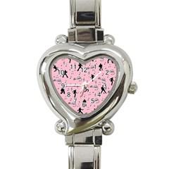 Elvis Presley  pink pattern Heart Italian Charm Watch