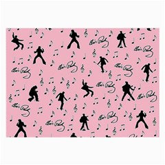Elvis Presley  pink pattern Large Glasses Cloth