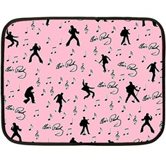 Elvis Presley  pink pattern Double Sided Fleece Blanket (Mini)