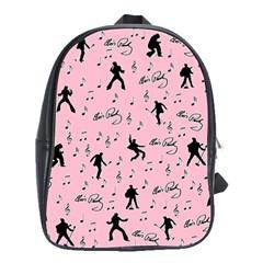 Elvis Presley  pink pattern School Bags(Large)