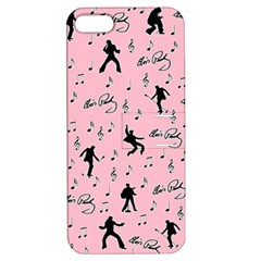 Elvis Presley  Pink Pattern Apple Iphone 5 Hardshell Case With Stand
