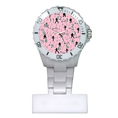 Elvis Presley  pink pattern Plastic Nurses Watch
