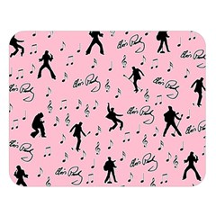 Elvis Presley  pink pattern Double Sided Flano Blanket (Large)
