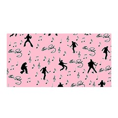 Elvis Presley  pink pattern Satin Wrap