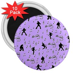 Elvis Presley  pattern 3  Magnets (10 pack)