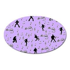 Elvis Presley  pattern Oval Magnet
