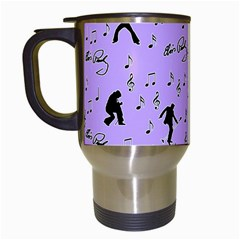 Elvis Presley  pattern Travel Mugs (White)
