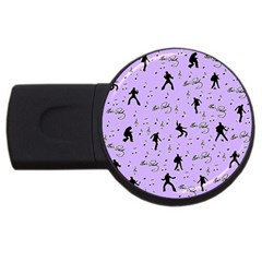 Elvis Presley  pattern USB Flash Drive Round (4 GB)