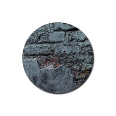 Concrete Wall                        Rubber Round Coaster (4 Pack)