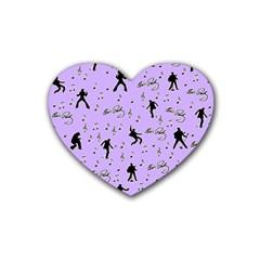 Elvis Presley  pattern Rubber Coaster (Heart)
