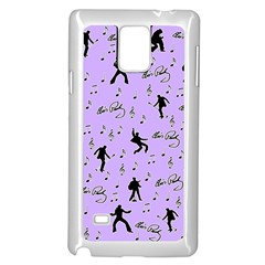 Elvis Presley  pattern Samsung Galaxy Note 4 Case (White)