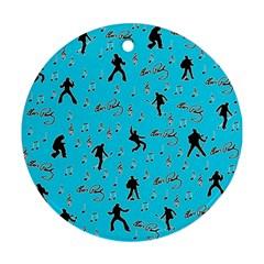 Elvis Presley  pattern Ornament (Round)