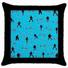 Elvis Presley  pattern Throw Pillow Case (Black)