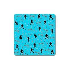 Elvis Presley  pattern Square Magnet