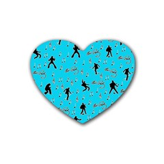 Elvis Presley  pattern Rubber Coaster (Heart)