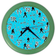 Elvis Presley  pattern Color Wall Clocks