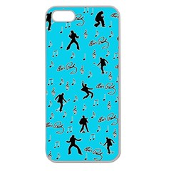 Elvis Presley  pattern Apple Seamless iPhone 5 Case (Clear)