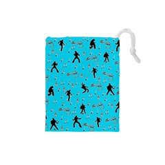 Elvis Presley  pattern Drawstring Pouches (Small)