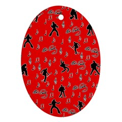 Elvis Presley  pattern Ornament (Oval)