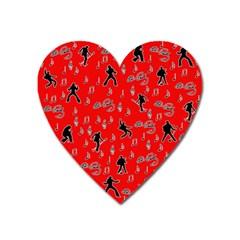 Elvis Presley  pattern Heart Magnet
