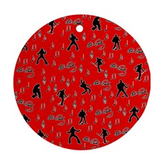Elvis Presley  pattern Round Ornament (Two Sides)